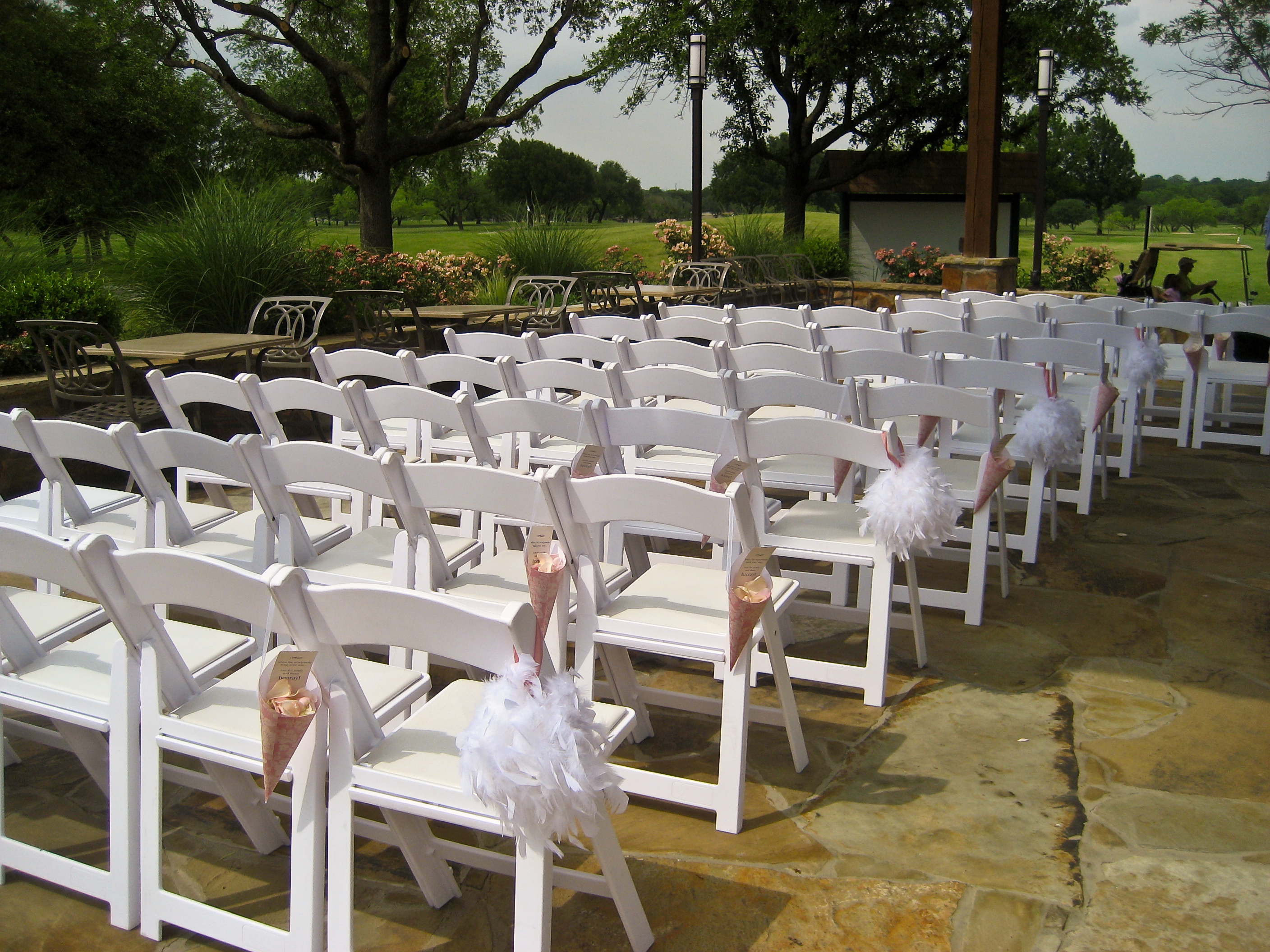 Wedding ceremony chair - Floral